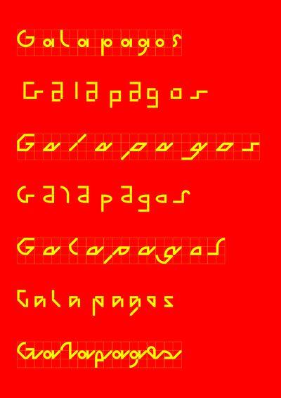 Felix Salut: Galapagos Typeface